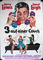 Drei 3 auf einer Couch Filmposter A1 Three on a Couch Jerry Lewis, Janet Leigh