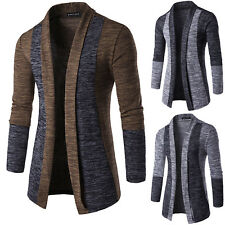 Men's Slim Fit Knitted Cardigan Coat Long Sleeve Casual Knitted Jumper Sweaters