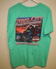 Mens Harley Davidson T-Shirt Soft STEEL CITY Washington PA Custom Paint LARGE L