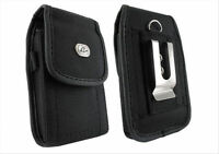 Cell Phone Rugged Heavy Duty Carrying Case Cover Holster Side Clip + Belt Loop