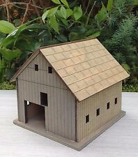 Miniature Dollhouse FAIRY GARDEN ~ Wooden Wood FARM Barn House ~ NEW