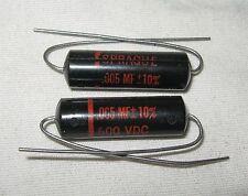 (2) NOS SPRAGUE 6TM-D50 .005 uf 600V Black Beauty CAPACITOR Guitar Tone Cap mfd