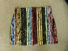 NWOT EXPRESS STRIPED SEQUIN MINI SKIRT sz 6