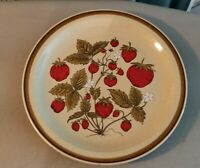 "International China Country Living Strawberry Patch 12"" Serving Platter Vtg"