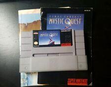 Final Fantasy: Mystic Quest (SNES, Super Nintendo 1992) with Manual & Map