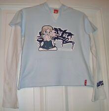 Mädchen T-Shirt Langarm mit Kapuze C&A Gr. 158/164 hellblau Lagenlook