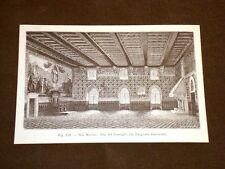 Rara veduta di fine '800 San Marino Sala nel Nuovo Palazzo del Consiglio