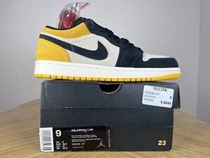 Men's Nike Air Jordan 1 Retro Low University Gold Yellow Size 9 553558-127