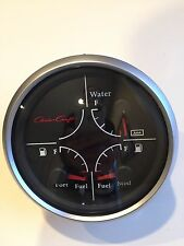 Faria Jumbo Multi-Function Boat Gauge~GF4063B~2 Fuel-Water Level~Chris Craft~'03