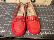 Women's Cushion Walk By AVON Loafers flat red  Size 6, EUC