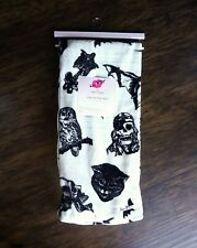 Betsey Johnson Bad Luck Ultra Soft Throw Blanket Skull Bat Cat Spider Halloween