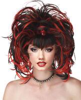 Morris Costumes Women's Gothic Evil Sorceress Black Red Wig. MR177152