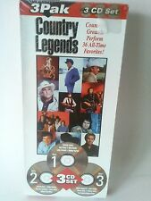 Country Legends 3 CD 36 All Time NEW George Jones Merle Haggard Johnny Cash