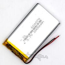 LiPo Polymer Rechargealbe Battery 3.7V 2000mAh Li-ion for GPS MP5 PSP 604070