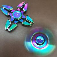Fidget Spinner Zinc Alloy EDC Stainless Steel Ceramic Bearing Stress Relief ToyS
