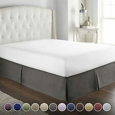 Hotel Luxury Bed Skirt Dust Ruffle 1800 Platinum Collection 14 inch Tailored Dro
