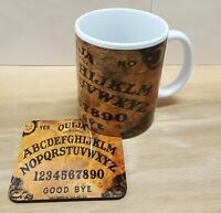 11oz Ceramic Coffee / Tea Mug and Cork backed coaster set Ouija Goth Emo D3