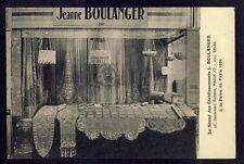 cpa RARE FOIRE de PARIS 1932 Stand Ets J. BOULANGER Crochet d'Art Déco Voilages