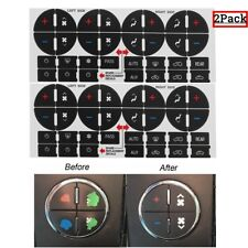 2Pack AC Dash Button Sticker Repair For GM Tahoe Suburban Avalanche Silverado