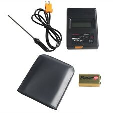 Digital LCD Thermometer Temperature Meter with Probe Thermometer TM-902C K Type