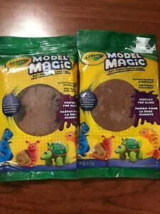 Crayola Model Magic Earth-Tone 4 ounce pack 2 pack brown clay  57-4459  Play-Doh