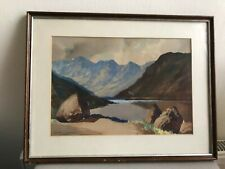 Vintage Watercolour of Loch Coruisk, Isle of Skye, Highlands. Signed & Framed.