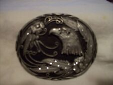 Eagle and Feathers Belt Buckle - Handcrafted