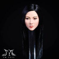 YMTOYS YMT021B 1/6 Female Soldier Figure Head Sculpt Asian Beauty Qian Toys Gift