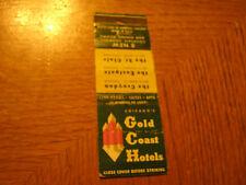 Chicago's Gold Coast Hotels Croydon Eastgate St Clair vintage matchbook