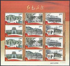 China 2012-14 Red Footprints Special Stamps Mini S/S 紅色足跡