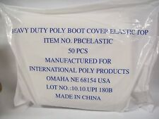 Lot of 50 Heavy Duty Boot Cover Elastic Top Pbcelastic