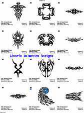 TATTOO/ABSTRACT COLL #1 LD MACHINE EMBROIDERY DESIGNS