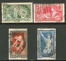 TIMBRES N° 183-186 OBLITERES TB