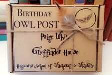 Harry Potter OWL POST Box Personalised Birthday Wedding Gift Wrap. Empty Box