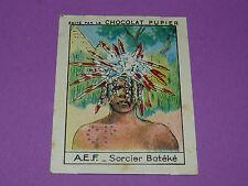 CHROMO AEF N°95 SORCIER BATEKE CHOCOLAT PUPIER AFRIQUE 1938-1950