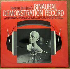 SEALED UNPLAYED STEREO REVIEW'S BINAURAL DEMONSTRATION RECORD LP HIFI HEADPHONES
