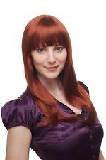 Perruque pour Femmes Auburn Rouge Long Lisse Frange à Cheveux Env. 50 cm