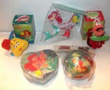 RARE LOT B Disney Little Mermaid Sebastian Christmas ORNAMENT Plush Jewelry Box