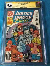 Justice League Europe #1 - DC - CGC SS 9.6 - Signed by Sears DeMatteis Giffen
