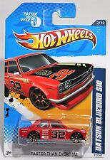 DATSUN BLUEBIRD 510 * 2012 HOT WHEELS * NEAR MINT TO MINT CARDS * RED NISSAN