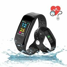 Bluetooth Smart Bracelet Fitness Activity Tracker with HR Blood Pressure Monitor