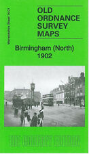 OLD ORDNANCE SURVEY MAP BIRMINGHAM NORTH 1902