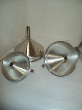Stainless Steel Funnel Three Piece Set With Handles, Free Shipping D9