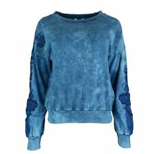 EX Store Embroidered Detail Long Sleeve Jumper Sweater Top