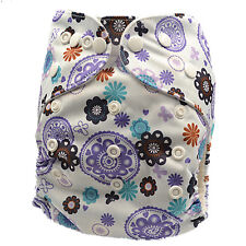 New Adjustable Reusable Waterproof Modern Cloth Nappy Nappies Baby Diaper (D105)