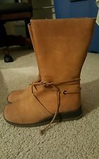 FESTIVAL LEATHER TRIBAL HIPPY BOOTS by M.O.D. SZ 8M