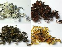 100 PENDANT PINCH BAILS 8mm  COLOUR CHOICE TOP QUALITY
