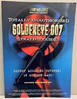 GoldenEye 007 Totally Unauthorized N64 Official Strategy Guide Book Very Good