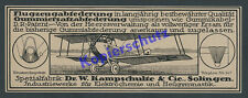 Orig. Advertising Aircraft Airforce Aviator Force Army Kamp Schulte Solingen 1918