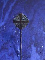 Pin/Anstecknadel - Globus mit Kreuz blau -alt (Miele ?)
